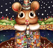 Little Bright Eyes the Radiant Christmas Mouse by © Cassidy (Karin) Taylor