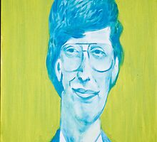 The young Bill Gates in oil painting! by sivlongtaing