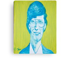 The young Bill Gates in oil painting! Canvas Print