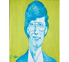 The young Bill Gates in oil painting! Photographic Print