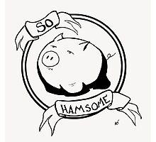 So HAMsome - Black Photographic Print