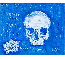 Rene Descartes in oil skull!  Photographic Print