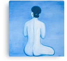 Blue Woman in oil Canvas Print