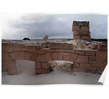 Remains of building, Old Eucla, WA Poster