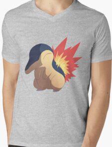 Cyndaquil Mens V-Neck T-Shirt