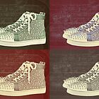 Christian Louboutin Mens Sneakers Pop Art by Arts4U