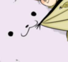 bat hugs Sticker