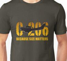 "Cessna C-206 ""Because Size Matters""  Unisex T-Shirt"