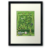 Birthday Garden Party Framed Print