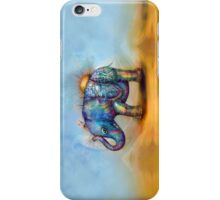 magic rainbow elephant iPhone Case/Skin
