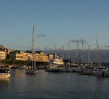 Sailing Out Of Syracuse, Sicily  by Georgia Mizuleva