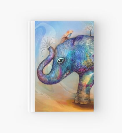 magic rainbow elephant Hardcover Journal