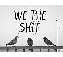 We the Shit Photographic Print