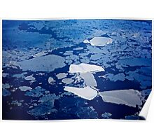 Antarctic ice blocks Poster
