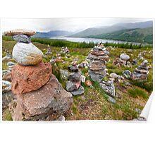 Highland Rock Piles Poster