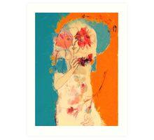 In Blue & Orange Art Print
