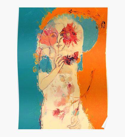 In Blue & Orange Poster