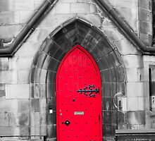 The Red Cathedral Door by Adrian Alford Photography