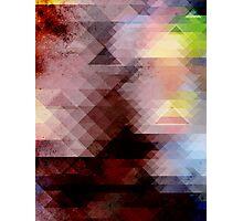 Grunge Geometric Graphic Photographic Print