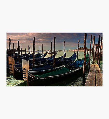 Gondola parking Photographic Print