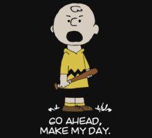 Charlie Make my day on black by pongologo