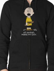 Charlie Make my day on black T-Shirt
