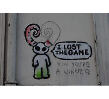 Lost the game - grafitti Photographic Print