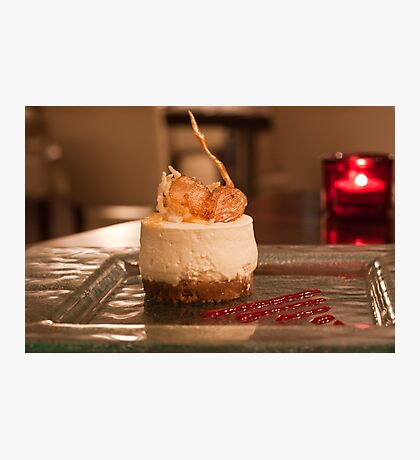 Cheesecake by candlelight Photographic Print