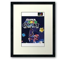 Super Mario Galaxy Retro Nintendo Super Famicom Style Cover Art Shirt Framed Print