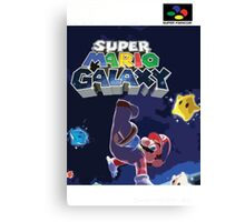 Super Mario Galaxy Retro Nintendo Super Famicom Style Cover Art Shirt Canvas Print