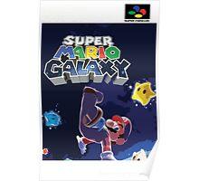 Super Mario Galaxy Retro Nintendo Super Famicom Style Cover Art Shirt Poster
