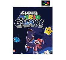 Super Mario Galaxy Retro Nintendo Super Famicom Style Cover Art Shirt Photographic Print