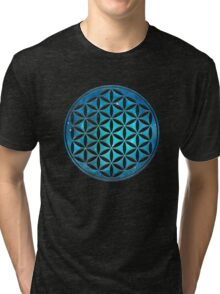 FLOWER OF LIFE - SACRED GEOMETRY - HARMONY & BALANCE Tri-blend T-Shirt