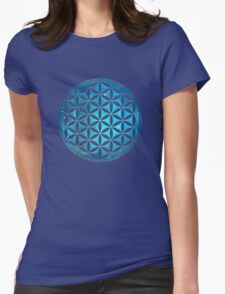FLOWER OF LIFE - SACRED GEOMETRY - HARMONY & BALANCE Womens Fitted T-Shirt