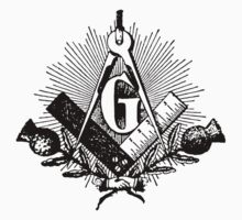 Masonic symbol, squaring the circle, freemason Kids Clothes