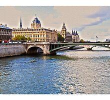 Seine River, Paris by Sama-creations