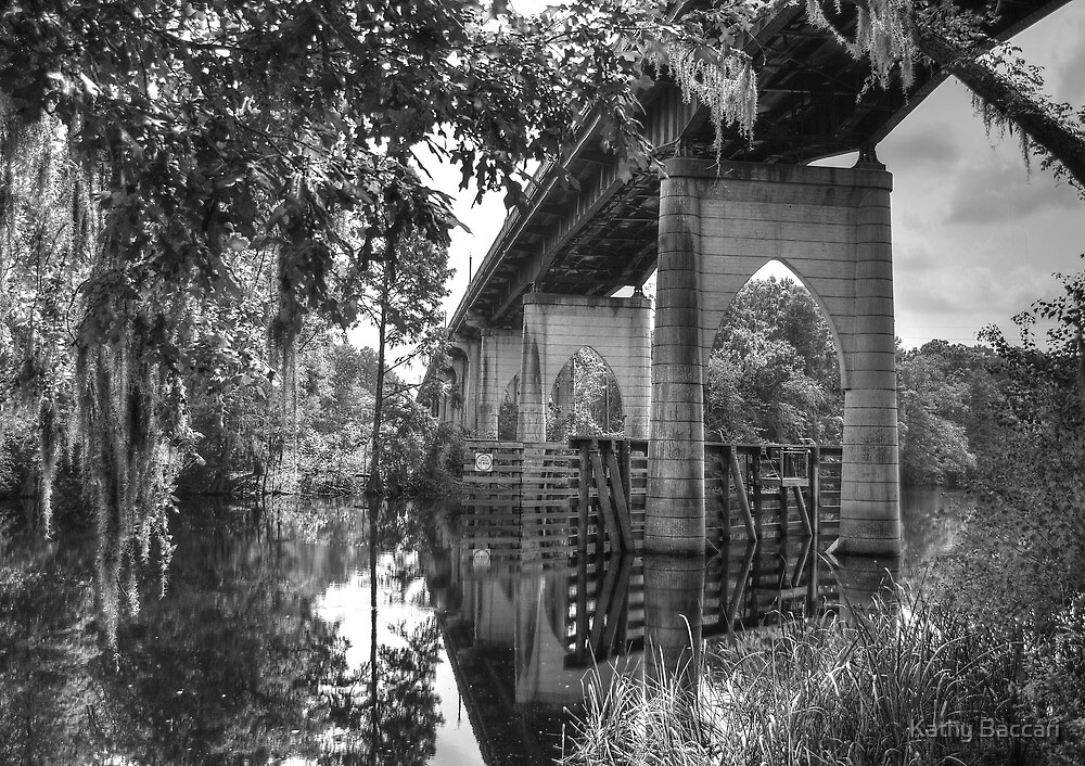 The Old Bridge Reflection by Kathy Baccari