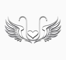 ELEXIER - HEART WITH WINGS - UNCONDITIONAL LOVE One Piece - Short Sleeve
