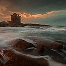 Windy Gloaming at Portencross by George Crawford