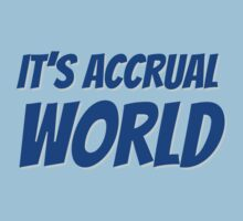 It's accrual world by careers