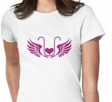 ELEXIER - HEART WITH WINGS - UNCONDITIONAL LOVE Womens Fitted T-Shirt