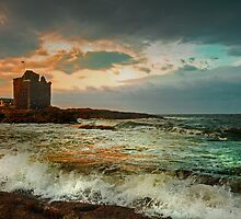 Breezy at Portencross by George Crawford