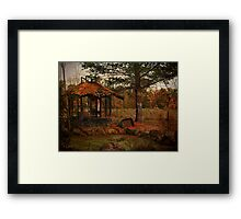 Gazebo at the Pond Framed Print