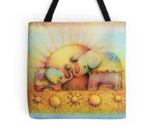 rainbow elephant blessing Tote Bag