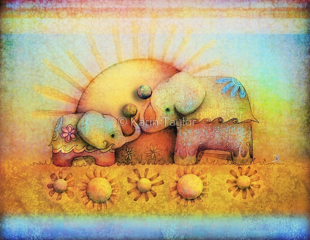 rainbow elephant blessing by © Karin Taylor