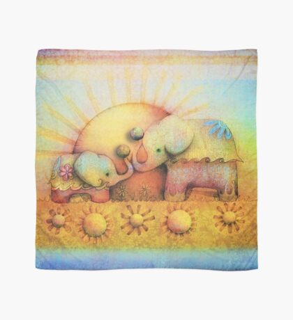 rainbow elephant blessing Scarf