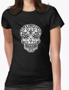 Mexican Sugar Skull, Day of the Dead, Dias de los muertos Womens Fitted T-Shirt