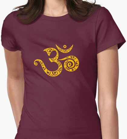 Sacred OM - I AM - Symbol of spiritual strength  Womens Fitted T-Shirt