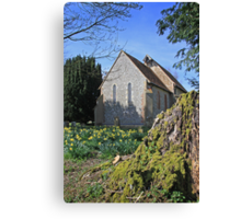 St Paul, Elsted in spring Canvas Print