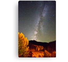 Autumn Milky Way Night Sky  Canvas Print